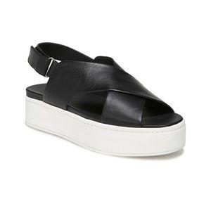Vince Camuto Weslan Black Slingback Sandals sz 8.5